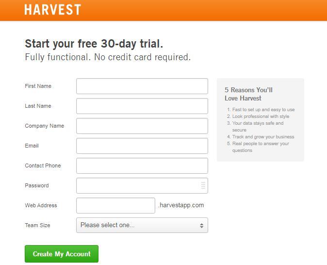 harvest-free-trial