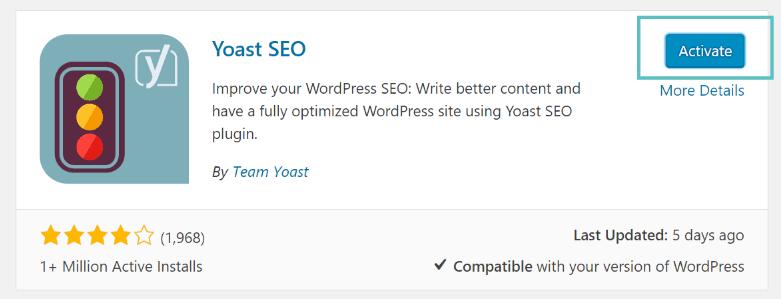 yoast seo активация