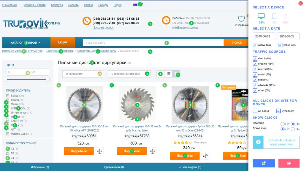 Пример юзабилити аудита страницы интернет-магазина с помощью карты кликов-01