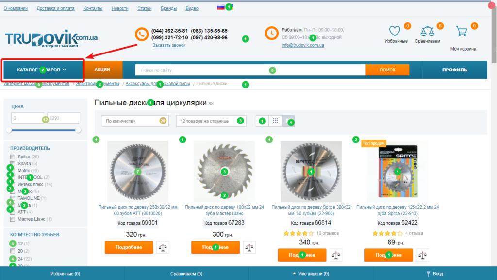 Пример юзабилити аудита страницы интернет-магазина с помощью карты кликов-02