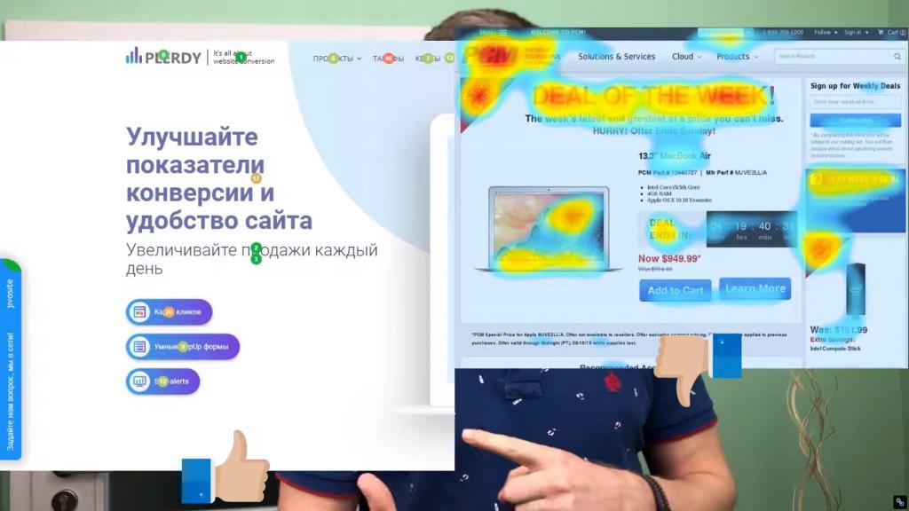 Тепловая карта кликов
